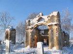 Ляховичи, кладбище христианское:  часовня-усыпальница Солтанов (руины), 1830-е гг.
