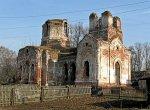 Межево, церковь Покровская (руины), 1886 г.