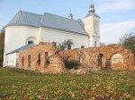 Засвирь, монастырь:   жилой корпус (руины), нач. XVIII в.